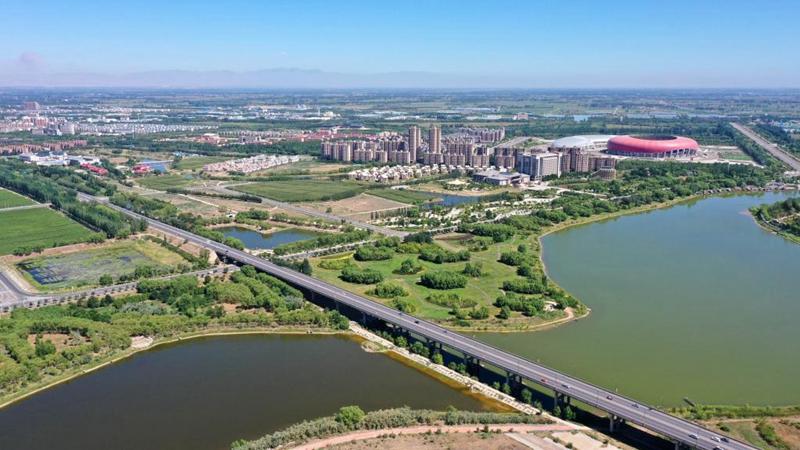 Landschaft vom Gelben Fluss im Autonomen Gebiet Ningxia der Hui