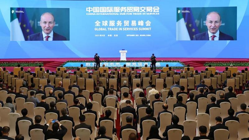 Führende Persönlichkeiten der Welt halten Reden auf dem Gipfeltreffen zum globalen Handel mit Dienstleistungen bei CIFTIS 2021
