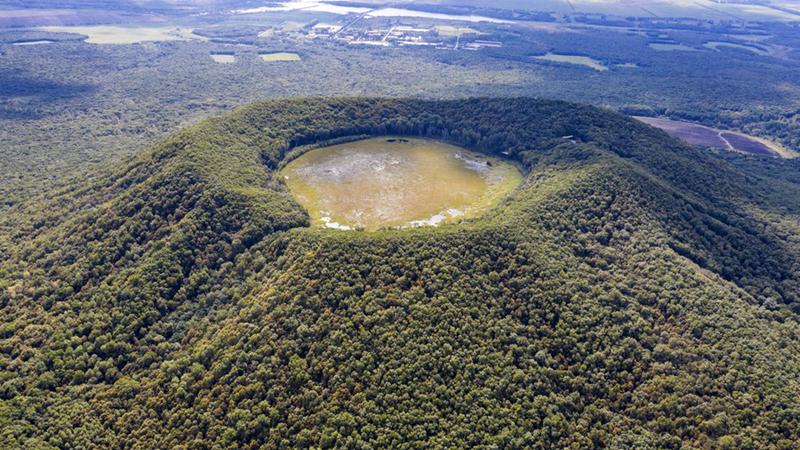 """""""Natürliches Vulkanmuseum"""" im Nordosten Chinas"""