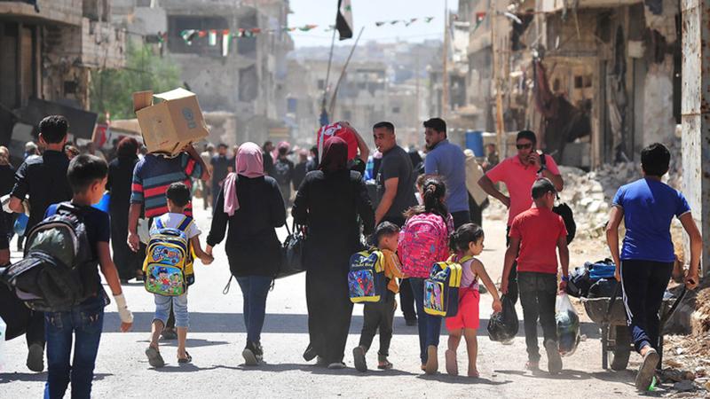 Fotoreportage: Menschen im Süden Syriens kehren in ihre Häuser zurück