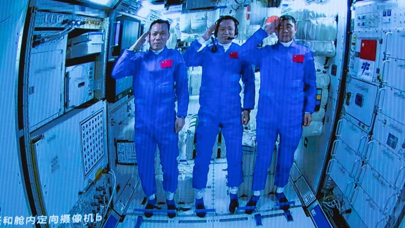 Raumschiff Shenzhou-12 trennt sich vom Kernmodul der Raumstation
