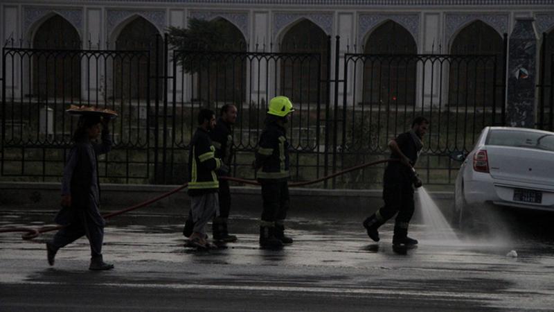 Fotoreportage: Zahl der Todesopfer bei Bombenexplosion in Kabul steigt auf acht