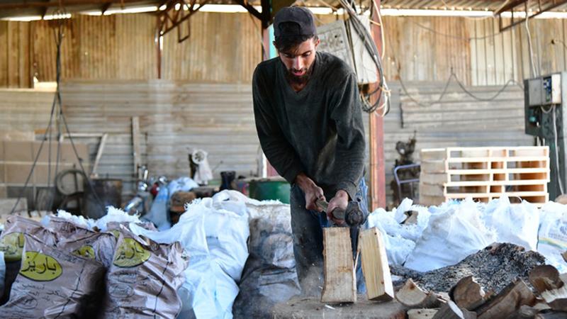 Heizöl-Knappheit in Syrien führt zu erhöhter Nachfrage nach Brennholz