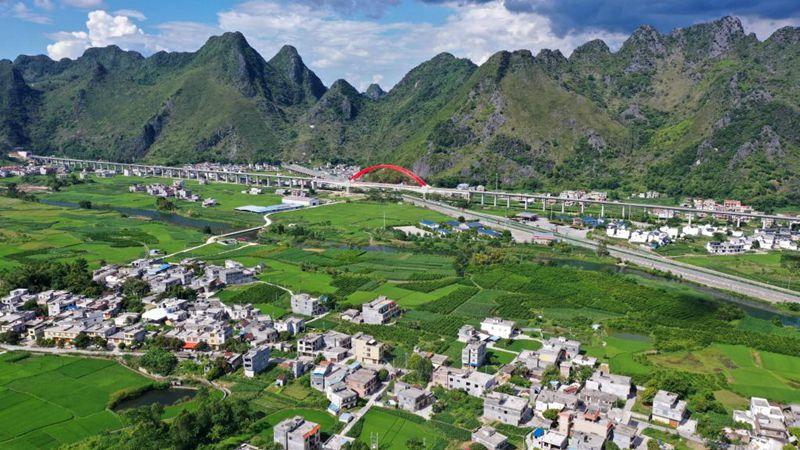 Landschaft in Südchinas Guangxi