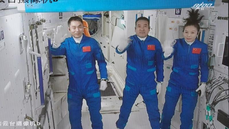 Shenzhou-13-Astronauten betreten Kernmodul der Raumstation