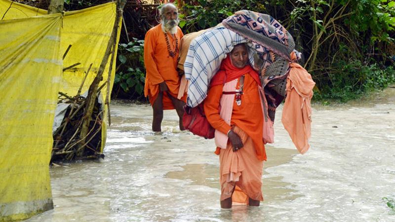 Zahl der Toten bei Überschwemmungen in Nordindien steigt auf 34