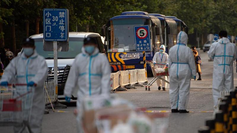 Wohngebiet Hongfuyuan unter geschlossener Verwaltung in Beijing