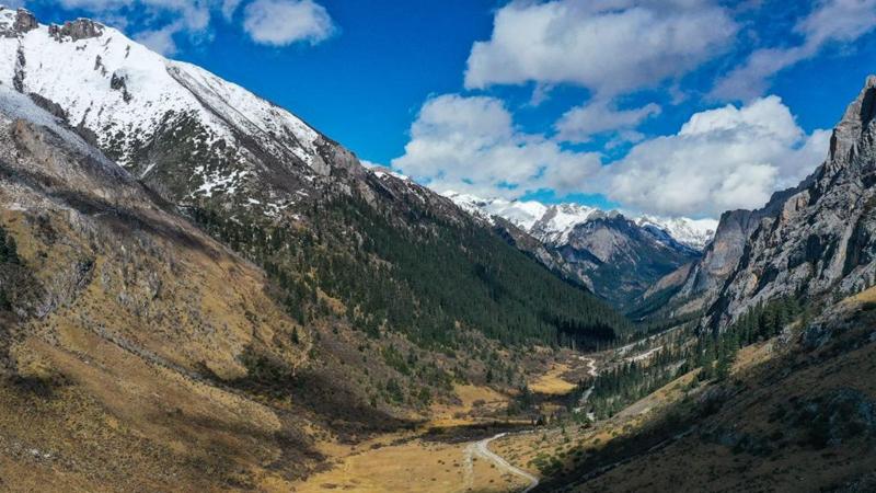 In Bildern: Landschaftsgebiet Babagou in Baiyu von Sichuan